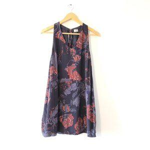 Aritzia Wilfred Floral Print Mini Dress.